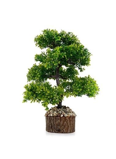 Çiçekmisin Doğal Saksıda Dekoratif Çınar Yapay Ağaç Yeşil